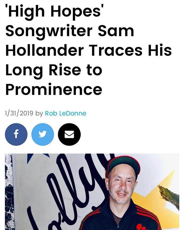 Holy smokes! Thanks Rob LeDonne / Billboard for throwin' it all the way back. Humbled. 👊🏻🖊 #whatalongstrangetripitsbeen #billboard #tbt #highhopes