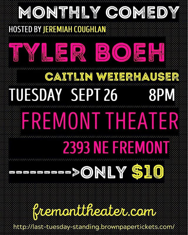 Last Tuesday Standing! Stand-up comedy every month at Fremont Theater. With your host Jeremiah Coughlan! #lasttuesday #comedy #pdxcomedy #portlandoregon