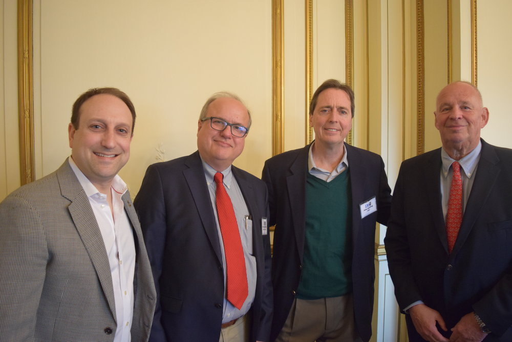 The LIYS 2016 Renewable Energy Panel. Left to right: David Shieren , Empower Solar;Dr. Donald Dimarzio, Northrup Grumman;John J. Keating PSEG Long Island; Richard Kessel, East Coast Energy Solutions.