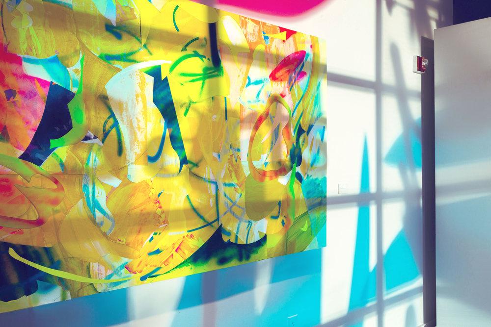 Clamor  (detail) &  Untitled  (window installation)/2016 / Gibbs Street Gallery, VisArts / Rockville, Maryland