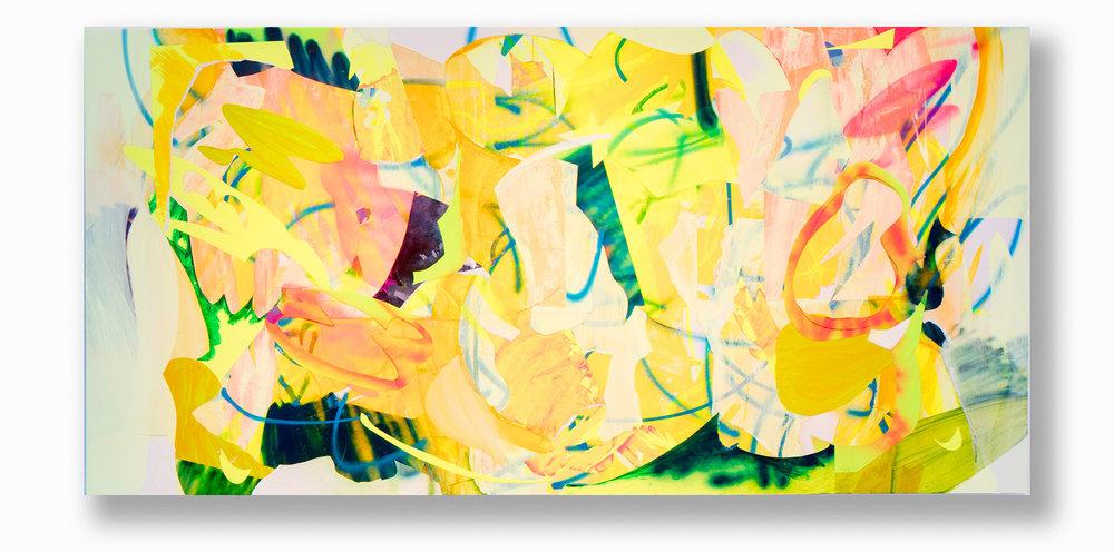 Clamor  / 48 x 96 in. / Mixed media on PVC / 2016