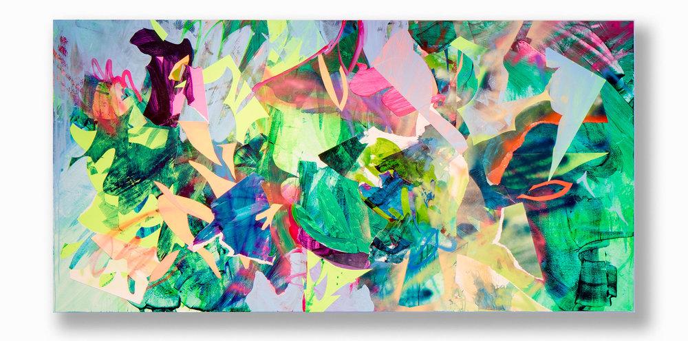 Jamboree  / 48 x 96 in. / Mixed media on PVC / 2016