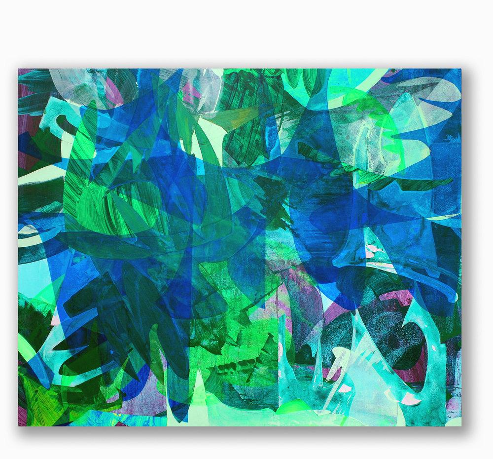 Jabber  / 48 x 60 in. / Mixed media on PVC / 2017
