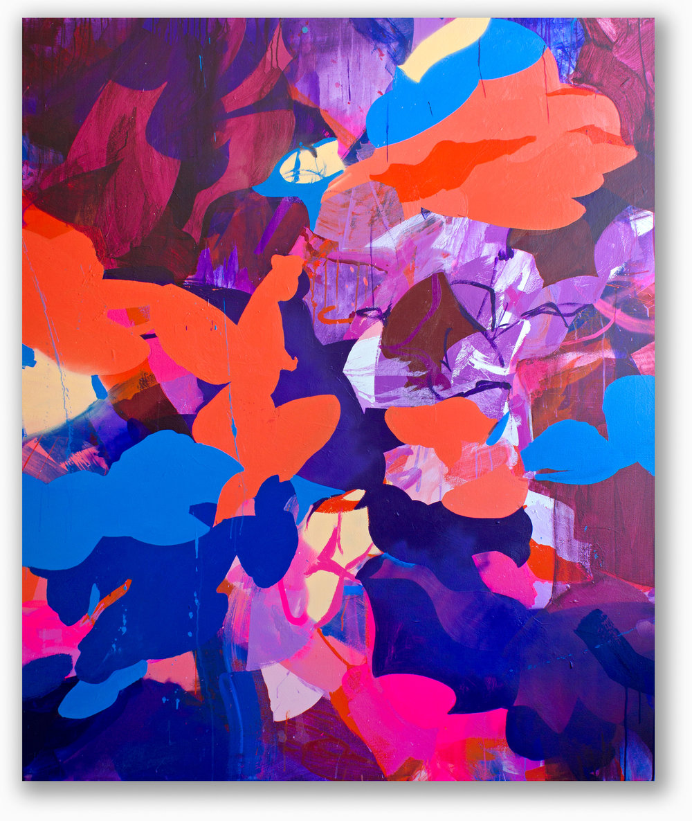Shape Shifters #2 / 72 x 60 in. / Mixed media on canvas / 2015