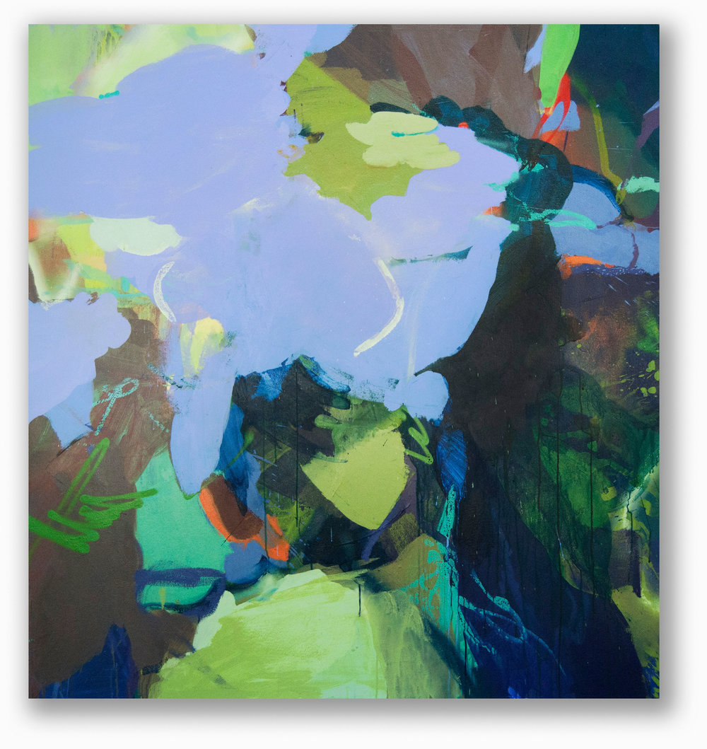 Periwinkle  / 60 x 56 in. / Mixed media on canvas / 2014
