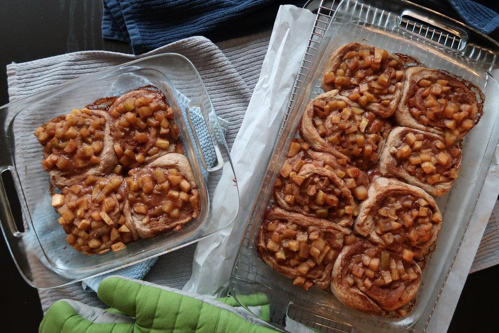 freshly baked Apple Cinnamon Rolls
