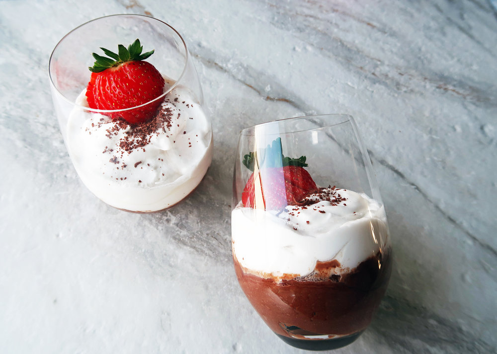 Easiest Dark Chocolate Mousse with Coconut Whipped Cream