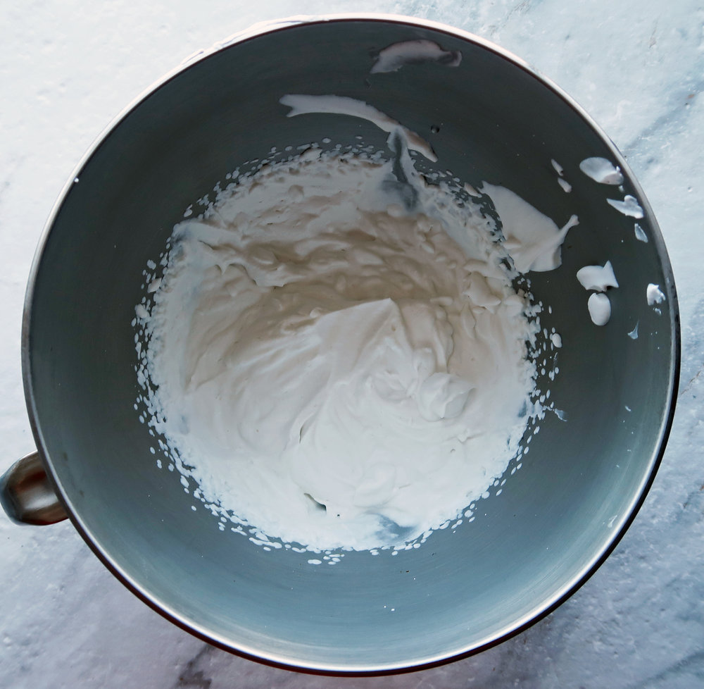 Coconut whipped cream.