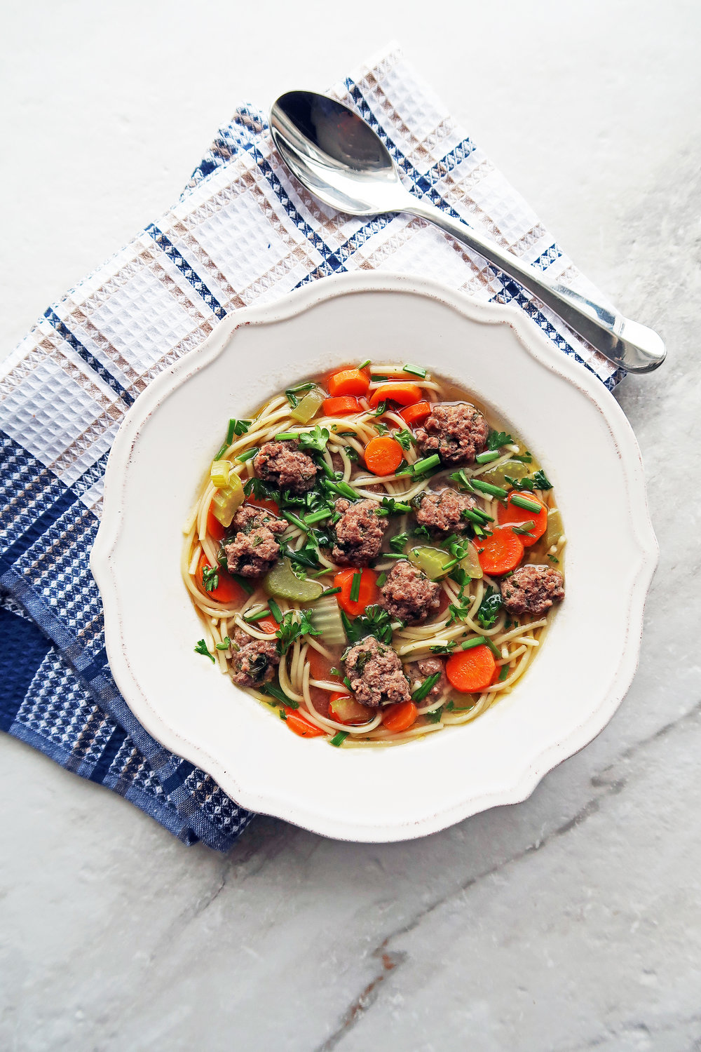 Dutch Vegetable Soup with Meatballs