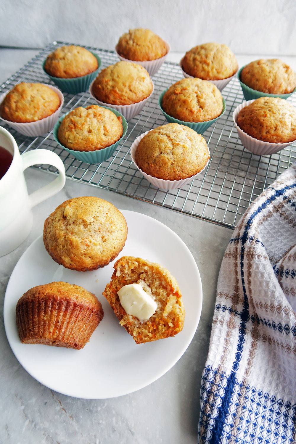 Easy Carrot Pineapple Muffins: Super soft, quick to make, and perfect for breakfast or dessert. www.yayforfood.com
