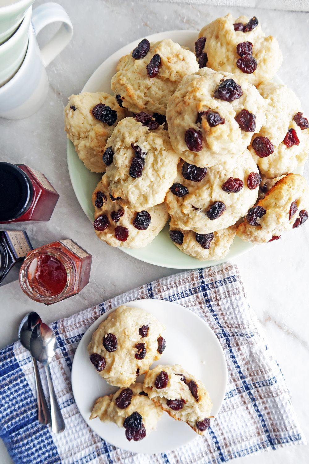 30 Minute Cherry Coconut Tea Buns: A quick and easy breakfast or snack. www.yayforfood.com