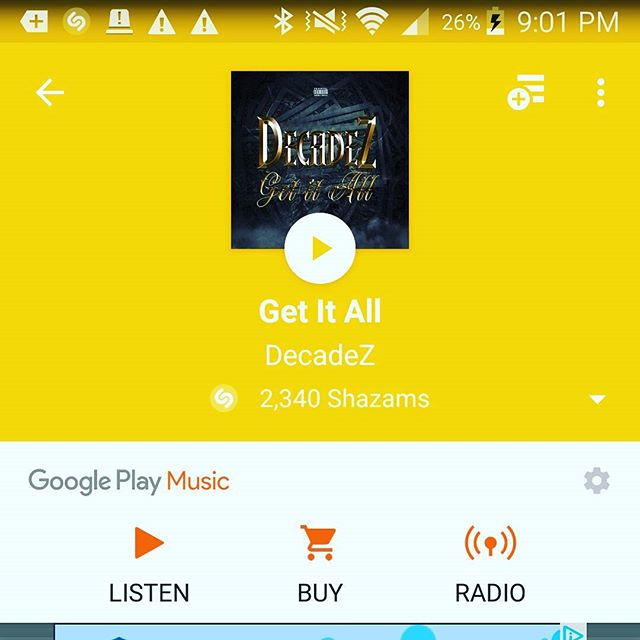 DecadeZ - Get It All (As heard on Ozark Ep. 5) is now available on Google Play, iTunes, Spotify, Shazam and any other place music is sold. Snatch that thang up! I appreciate all the support world. Pom Pom video coming soon!! #Ozark #Netflix #GetItAll #iTunes #spotify #applemusic #wavey #music #Rap #TheFlash #heat