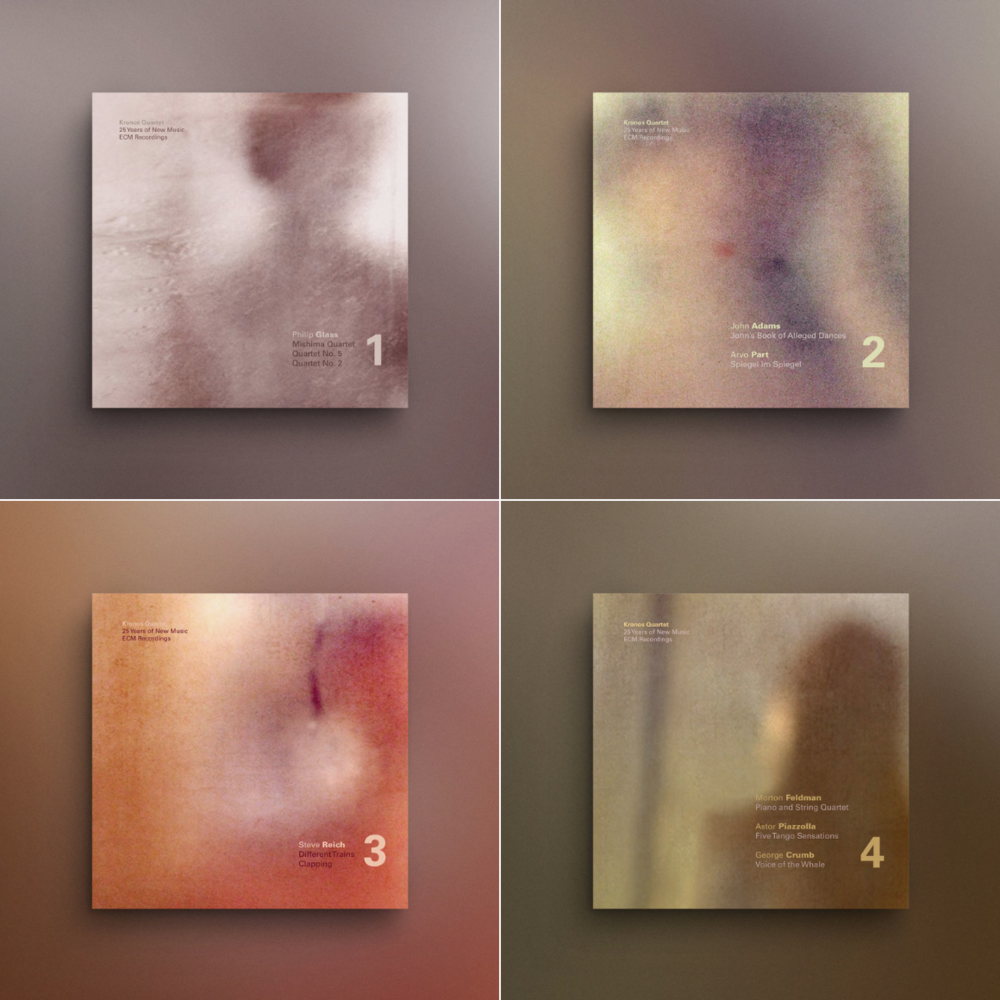 Hierarchy album covers for Kronos Quartet