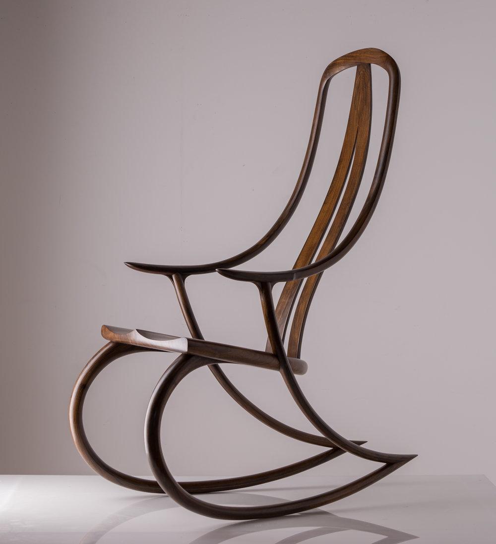 English Walnut Monogram Chair