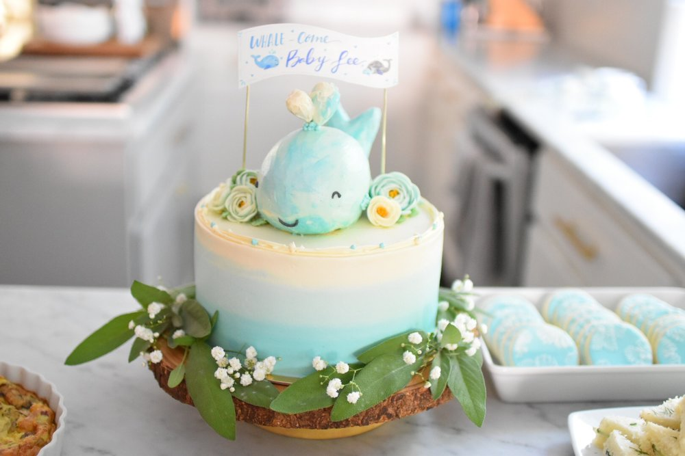 A Special Whale Come Baby Baby Shower Cake Jan Kim Grumbles