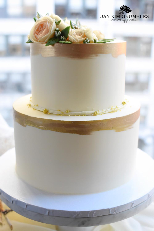 Classic Elegant Tiered Wedding Cake Jan Kim Grumbles
