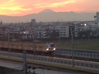 お天気が良いと、富士山が見えます。