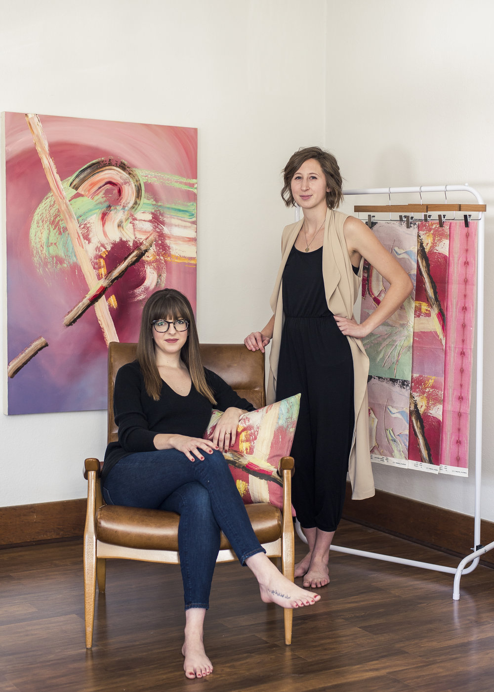 Designer Abby Gettys and Artist Allison Walsh