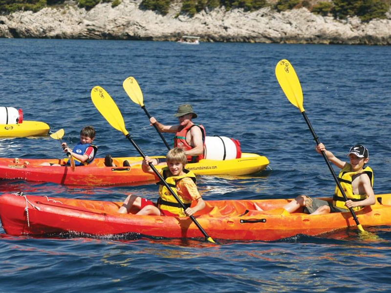 Kayaking is fun for the whole family. Rent single or double kayaks and explore the nearby bays and islands at your leisure.