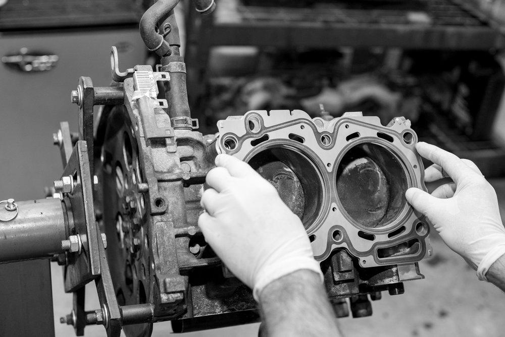 Multilayer Steel Head Gasket being Installed