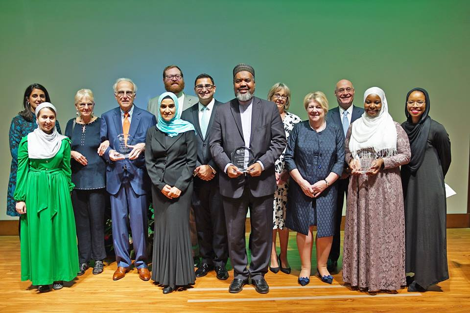With the recipients of the  Peace Awards 2017
