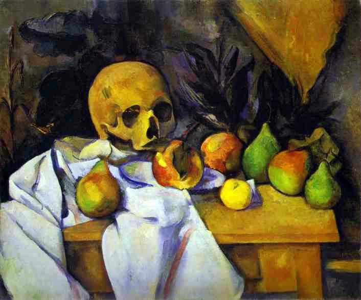 still life with skull by paul cezanne famous art handmade oil