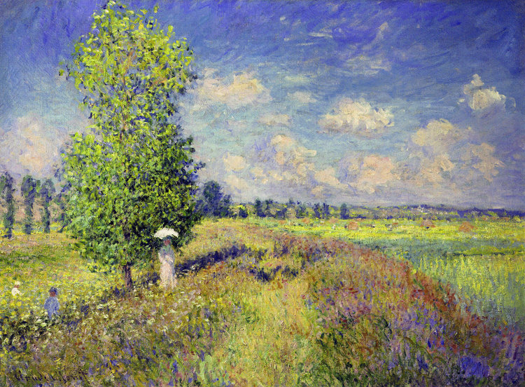 The Summer Poppy Field By Claude Monet Famous Art