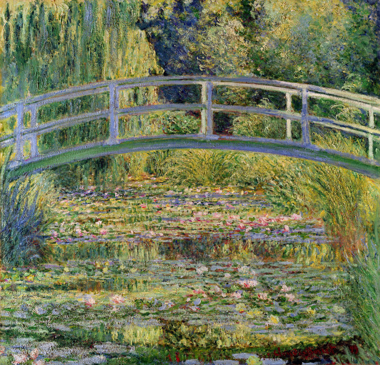 The Japanese Bridge Water Lily Pond By Claude Monet Famous Art