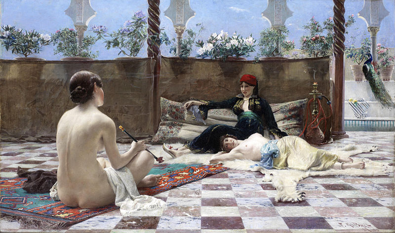 Turkish Women By Ferdinand Max Bredt - Famous Art - Handmade Oil Painting  On Canvas — Canvas Paintings