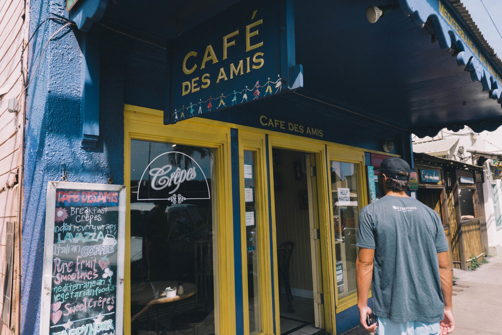Our local jeep guy suggested  CAFE DE AMIS  in Paia town for breakfast and it did not dissapoint! Everything looked so delish on the menu too.