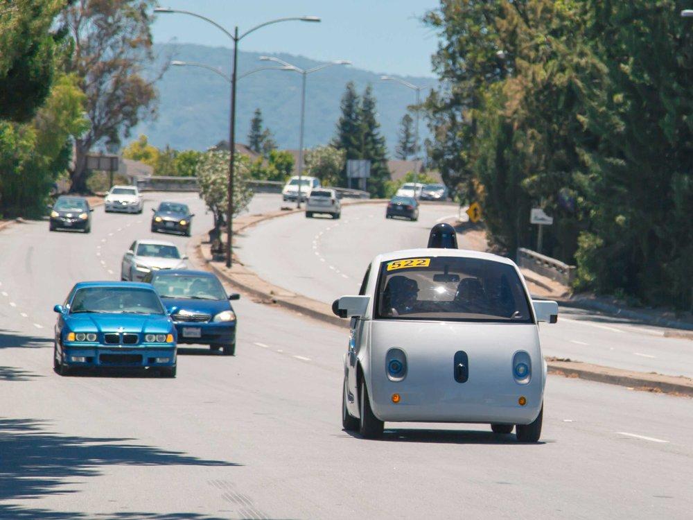 Google's self-driving car. Source:  b  usinessinsider.com