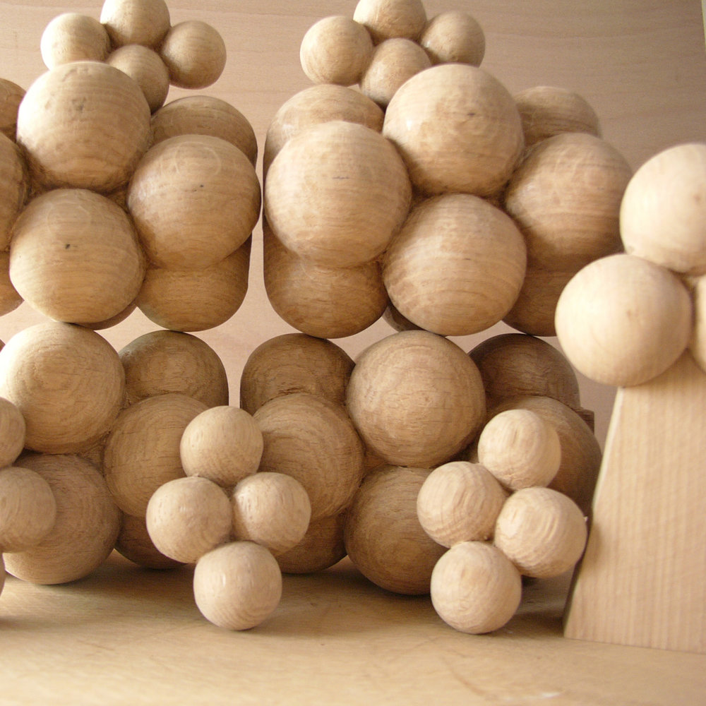Carved spheres for a project