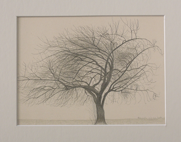 Stannington winter tree 170mm x 125mm
