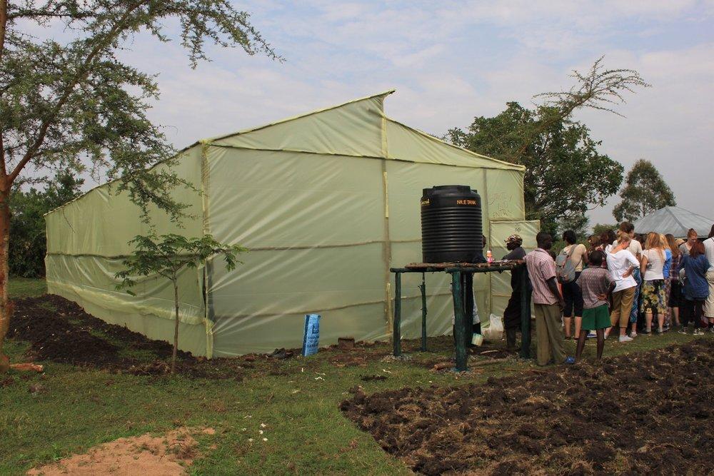Greenhouse at Kinda Biye provide by donations