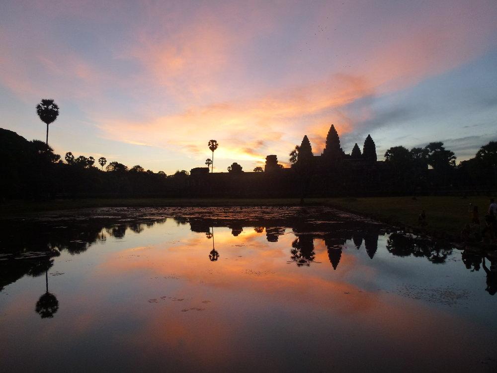 Sonnenaufgang in Angkor Wat,Kambodscha