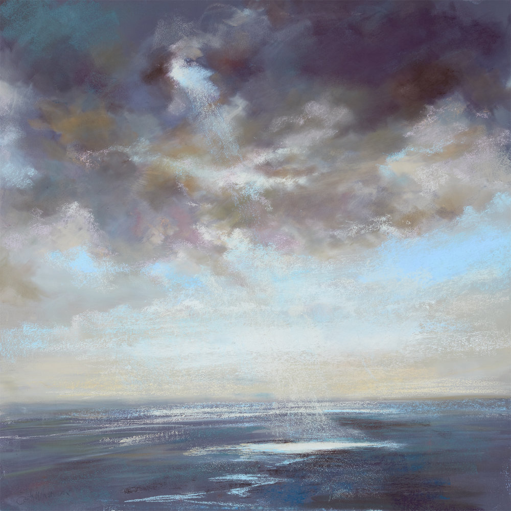 A Break in the Cloud  £3995 Pastel - Painting size 90cm x 90cm