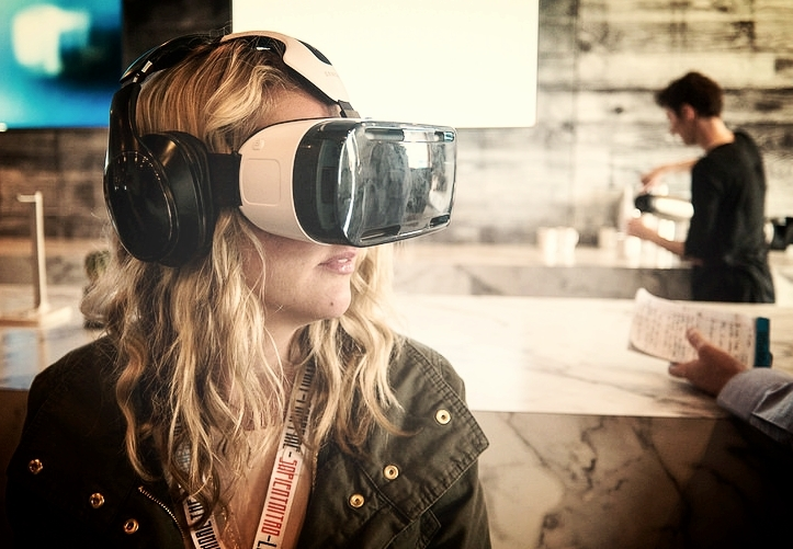 Woman wearing VR headset, which can be used to view a Venue View Virtual Tour. If you are interested in a Matterport Virtual Tour, Venue View are a UK MSP, which is a UK Matterport Service Provider and as such we provide virtual tours across a wide geographical area in the UK
