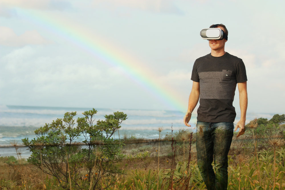 Man with VR Headset. Virtual Tours are an interactive marketing tool that open up new doors