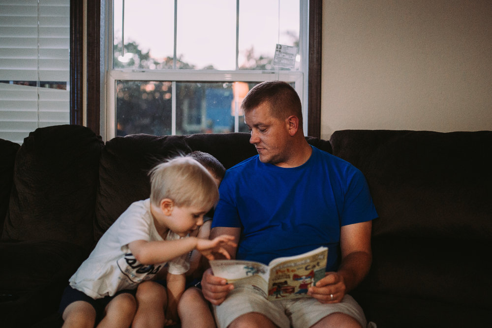 Good Dads read bedtime stories.