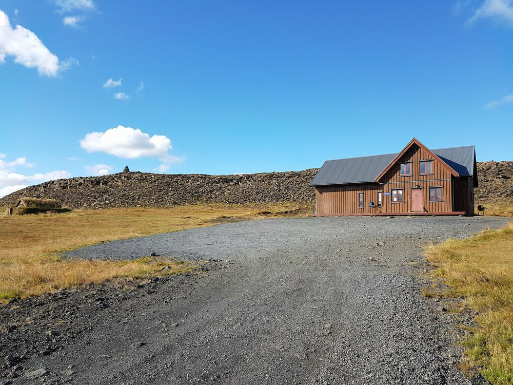 Skálinn Hólaskógur í Þjórsárdal.