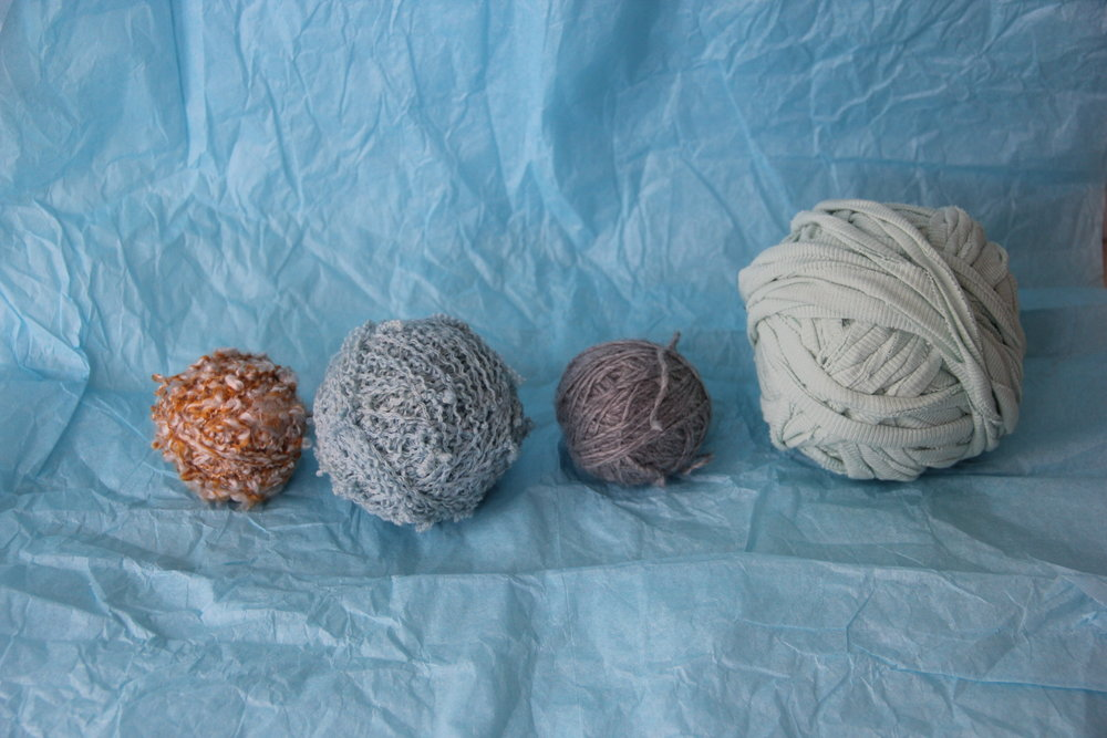 Unraveled Yarn From Found Sweaters