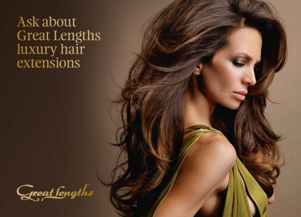 We offer Great Lengths luxury hair extensions. Book an appointment for a personalized consultation!