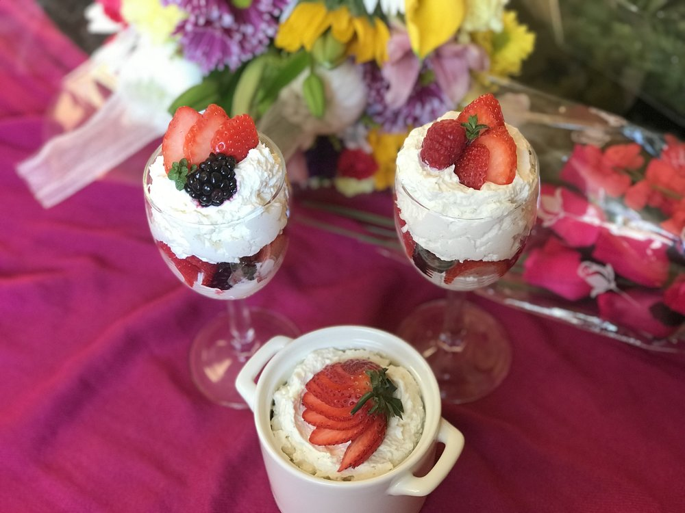 Mascarpone Cream with Mixed Berries