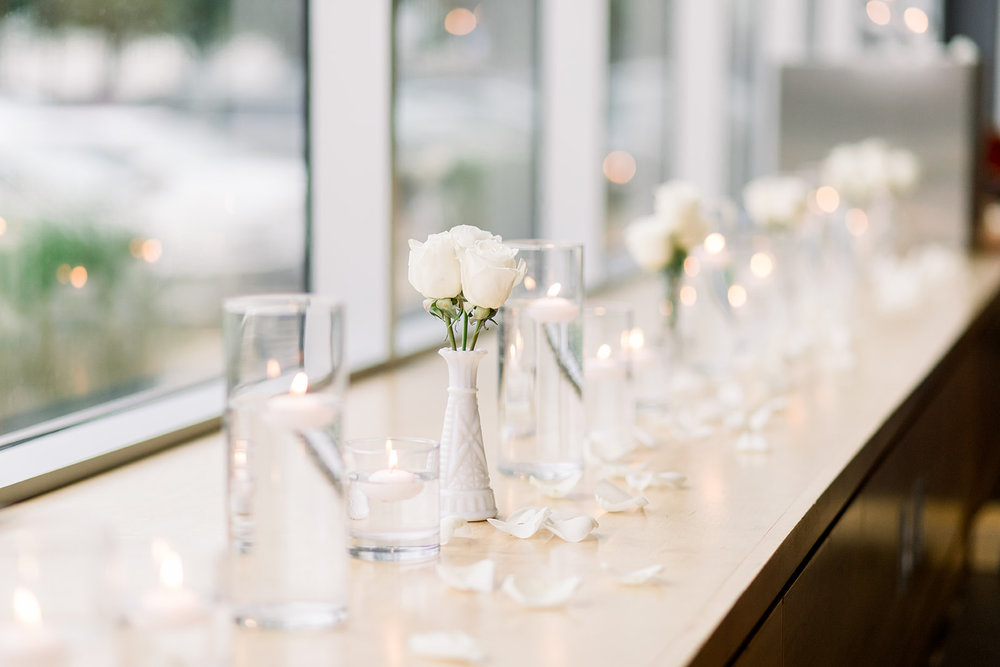 Varying size and style vintage milk glass vases  Photo by  Caley Joy Photography