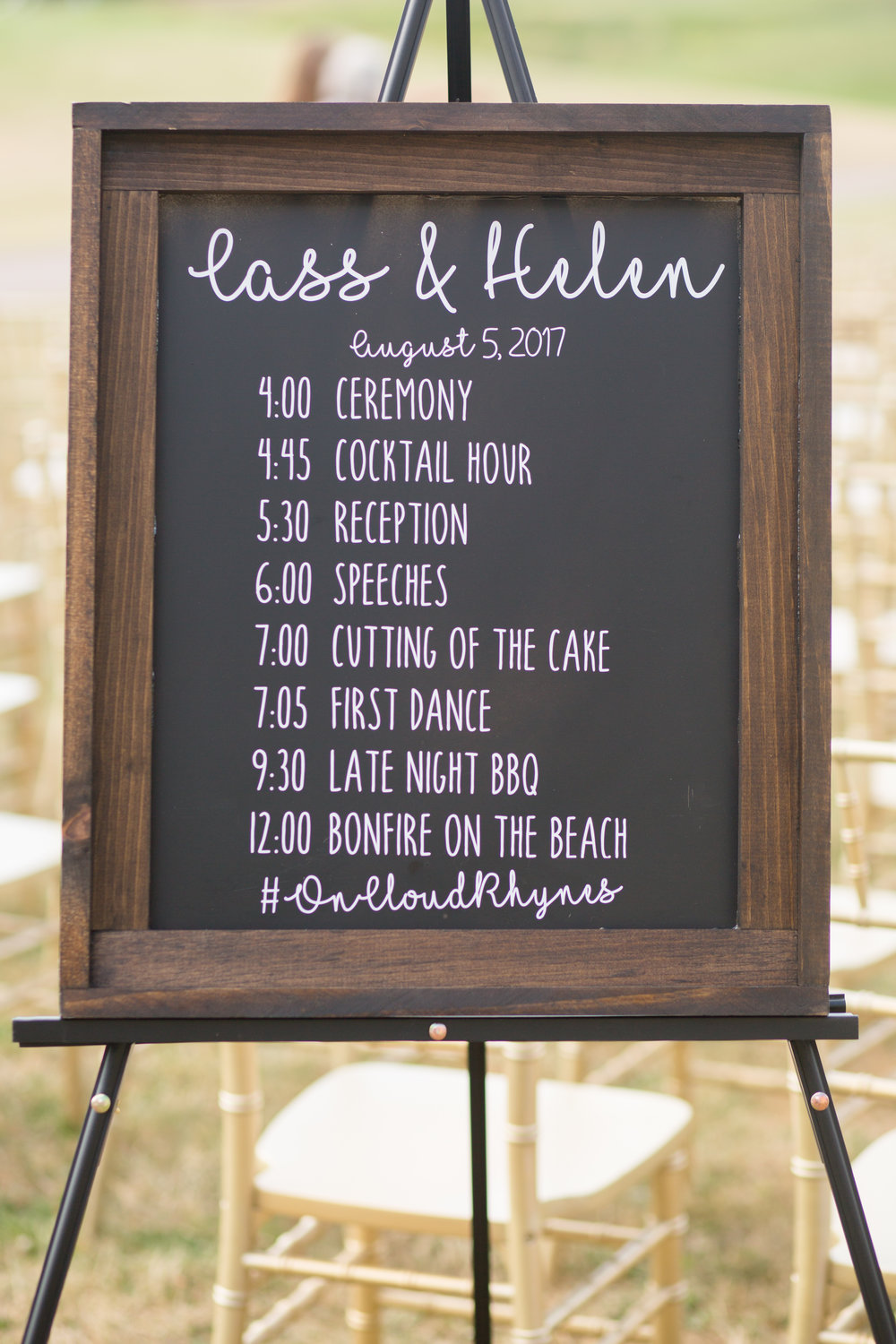 Assorted chalkboards for customization  Photo by  Nicole Anne Photography