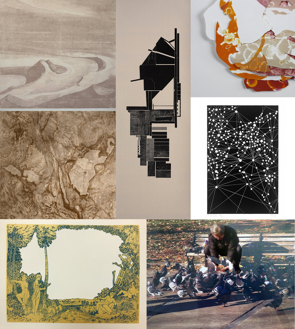 Details of work by (left to right) Matthew Colaizzo, Josh Dannin, Heather McMordie, Aubrey DiDonato, Victoria Burge, Serena Perrone, and J Pascoe.