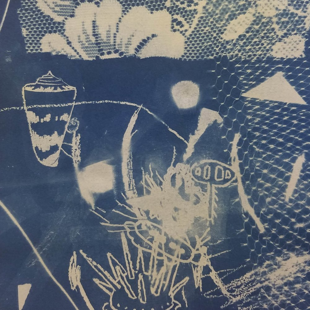 "2018 September: Under the Sea with Cyanotypes   Saturday, September 8th from noon-2pm   Say ""goodbye!"" to summer by celebrating the ocean and making prints with the sun! We will look at different ocean inspiration like shells, coral, seaweed, and of course sea creatures - to create our very own cyanotypes. There will be imagery provided and children and their grown ups can also draw their own!  Instructor:  Ashley Limés Castellana"