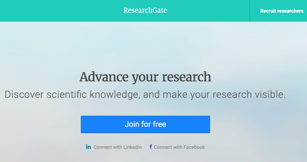 """""""ResearchGate is built by scientists, for scientists."""""""