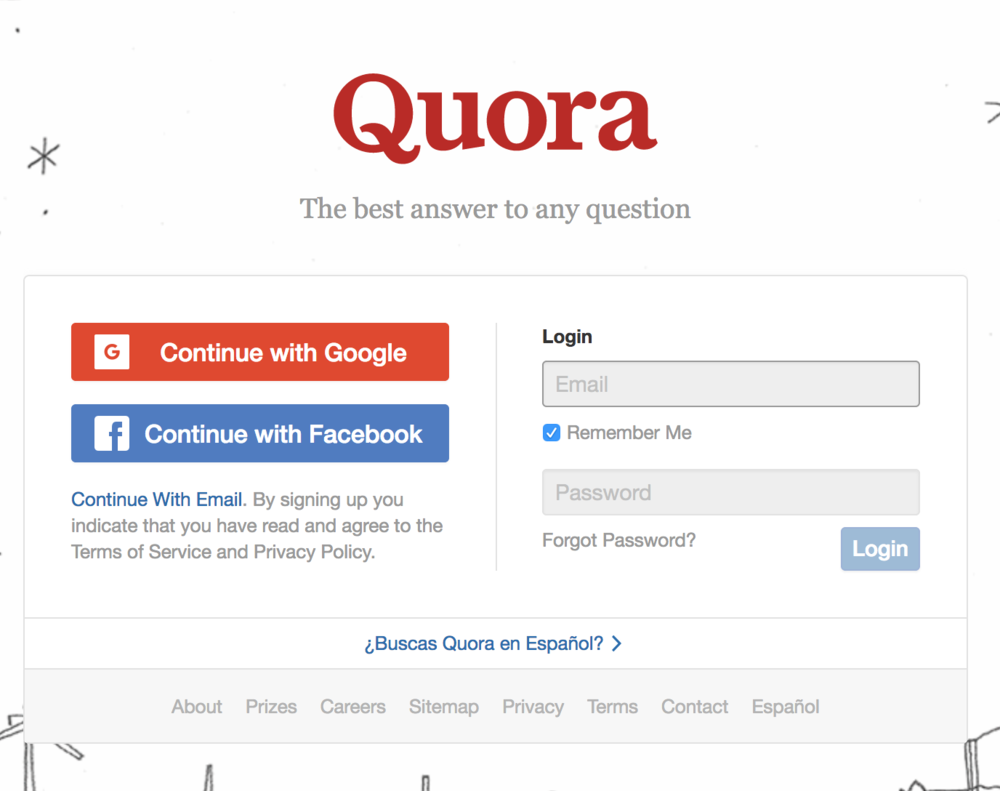 Quora - A social network for Questions and Answers.