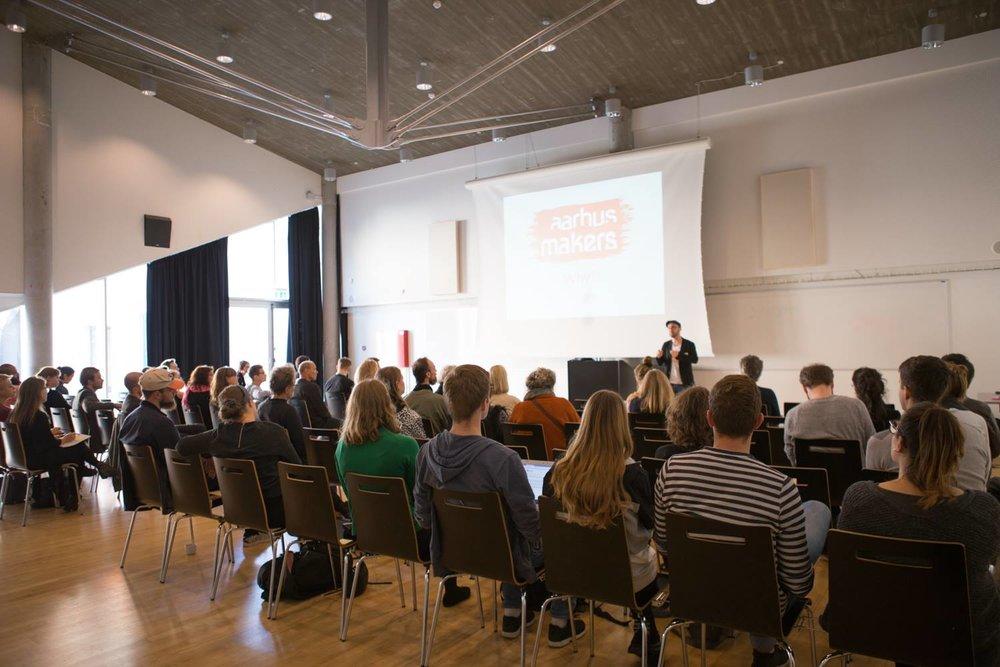 Event at Godsbanen in October 2017.